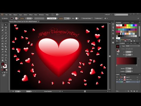 How to Draw a Heart in Adobe Illustrator | 2