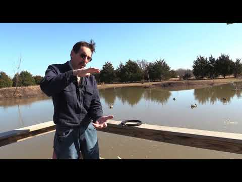 Missouri Wind and Solar Pond Aeration  Diffuser cleaning How To DIY