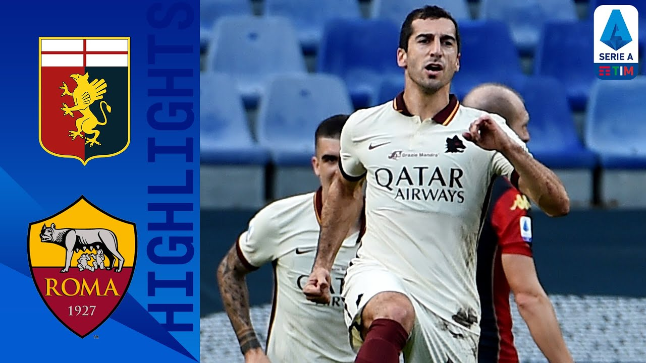 Genoa 1-3 Roma   Mkhitaryan bags hat-trick to guide Roma to a 3-1 victory!   Serie A TIM