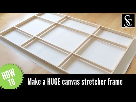 How to Make a Canvas Stretcher Frame, And How to Mount The Canvas