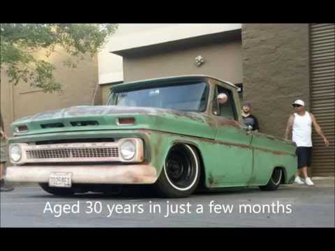 Patina Paint job 1964 chevy C10 Bagged 6 link