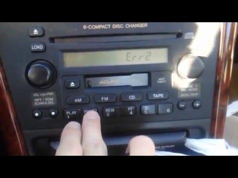 1999-2003 Acura 3.2TL Radio Error Code Repair