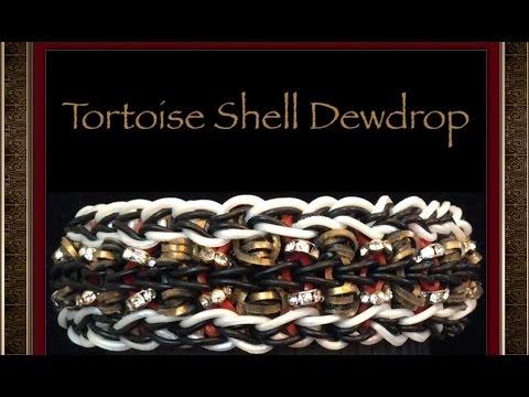 Rainbow Loom Band Tortoise Shell Dewdrop Bracelet Tutorial/How To