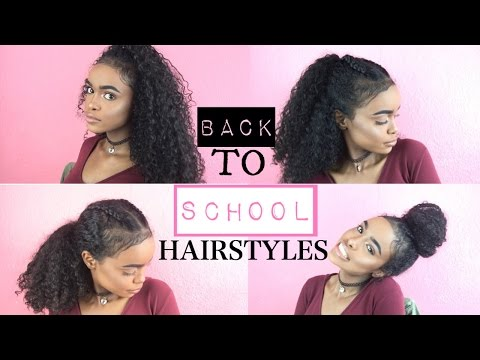 BACK TO SCHOOL HAIRSTYLES FOR CURLY HAIR | HALSSA