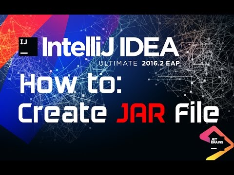 How to create a jar file with IntelliJ IDEA