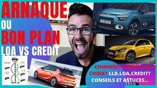 ✅LEASING VS CRÉDIT,💰🚘ARNAQUE OU BON PLAN🚙 LOA #guideachat#lld#leasingautomobile