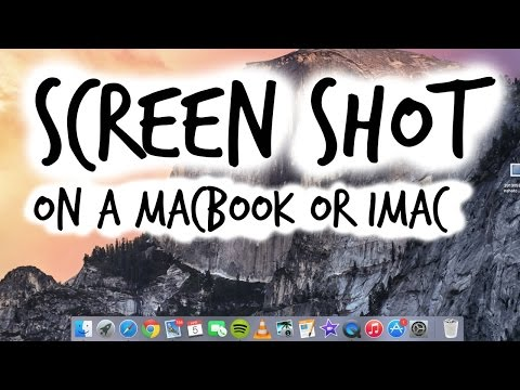 Take a Screen Shot on a Macbook / Macbook Air Yosemite