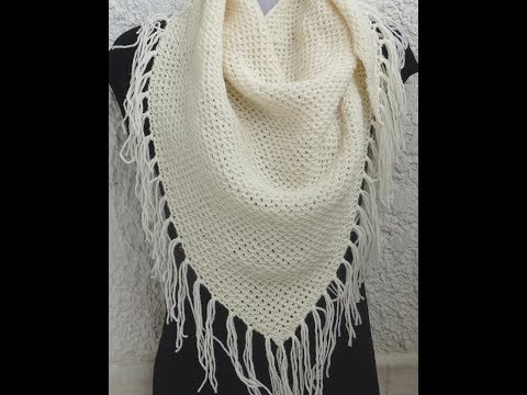 *** HOW TO KNIT A VERY EASY SHAWL ***