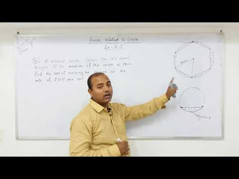 CLASS 10  AREAS RELATED TO CIRCLES  (Part - 8) NCERT
