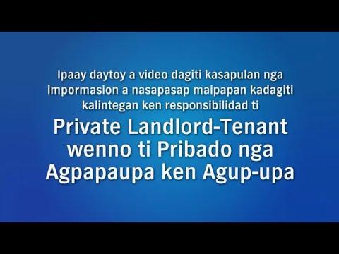 Landlord-Tenant Basics (Ilocano)
