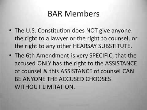 BAR Members 2 of 2   WHAT ATTORNEYS DON'T WANT YOU TO KNOW