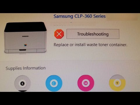 Replacing The Toner Waste Container In A Samsung CLP 360 Series Printer