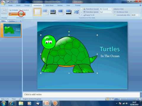 PowerPoint - Animating an image or object with custom animation