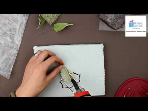 How to shape fabric leaves for millinery and jewellery projects