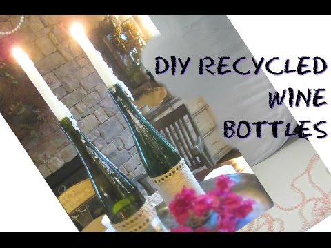 Recycled DIY Wine Bottle Drip Candle Holders | #Trashtotreasure