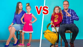 Mom vs Dad / 10 Funny Situations
