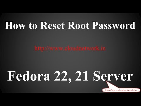 How to Reset Root Password in Fedora Server 23/22/20 -  32/64-Bit