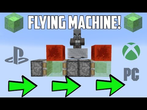 How To Build A Slime Block Flying Machine For Minecraft PS4/XboxOne