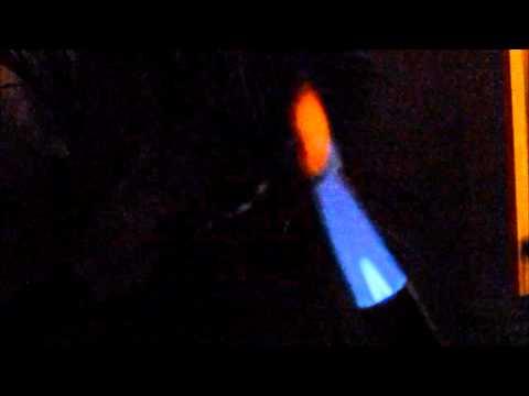 Palladium: Absorbed Hydrogen De-gassing via Flame
