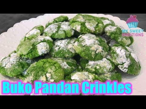 Buko Pandan Crinkles