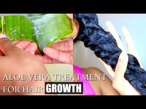 Aloe Vera For Fast Hair Growth-DIY Curly Natural Hair Treatment