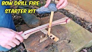 Bow Drill Fire Starter Kit