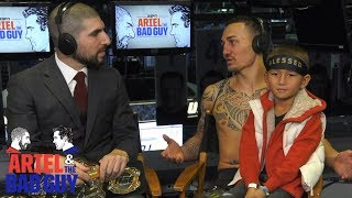 Max Holloway & Mini Blessed talk UFC 231 | Ariel & The Bad Guy