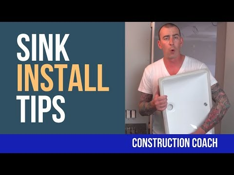 Sink Install Tips