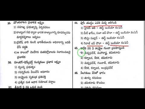 Important gk bits in telugu