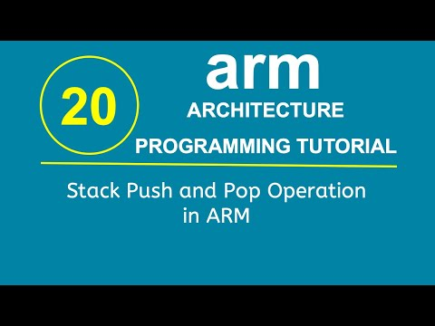 ARM Programming Tutorial 20- Stack Push and Pop Operation in ARM