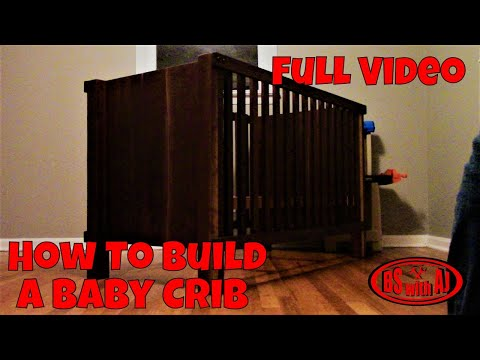 How To Build A Walnut Baby Crib (Full Video)