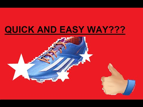 QUICK & EASY way to clean Football boots/cleats