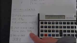 Hp 12c Platinum How To Calculate Internal Rate Of Return Irr