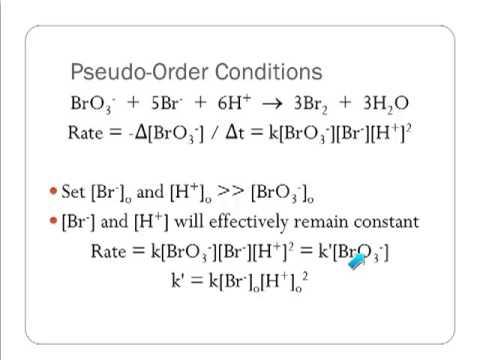 Pseudo Order Reactions