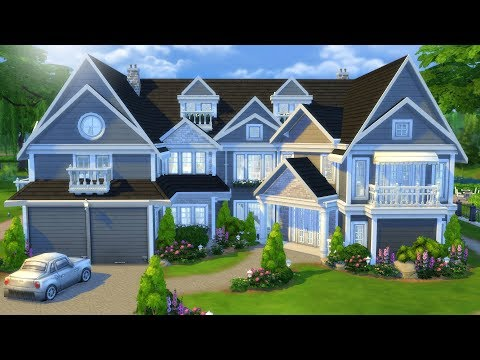 SUBURBAN FAMILY MANSION | The Sims 4 Speed Build