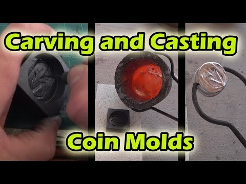Carving and Casting Coin Molds By Hand