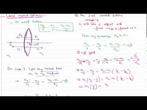 Ray Optics Lens Makers Formula Derivation for IIT-JEE and NEET Physics