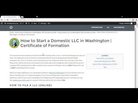 How to Start a LLC in Washington | WA Secretary of State