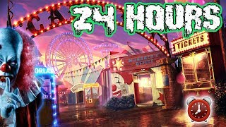 (WE GOT CAUGHT) 24 HOUR OVERNIGHT CHALLENGE AT A CARNIVAL | I SPENT THE NIGHT IN A CARNIVAL