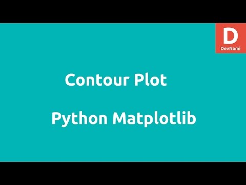Contour Plot in Matplotlib Python