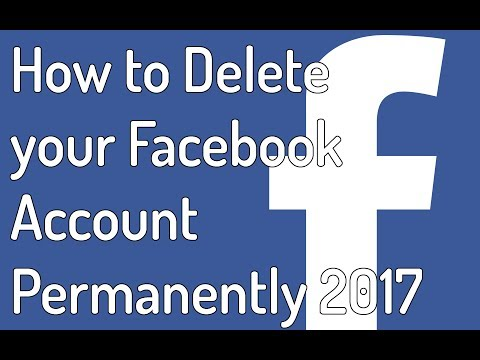 How to delete / deactivate your facebook account permanently 2017