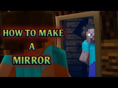 MCPE how to make a working mirror!