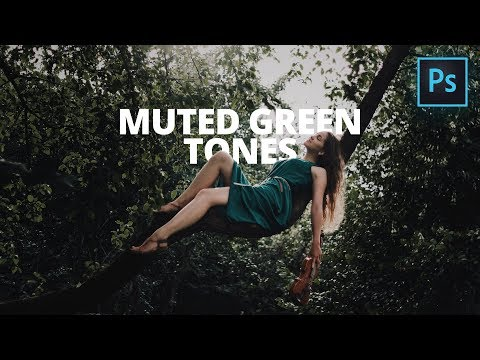 How to Edit MOODY DARK Images in Photoshop | Muted Green Tone