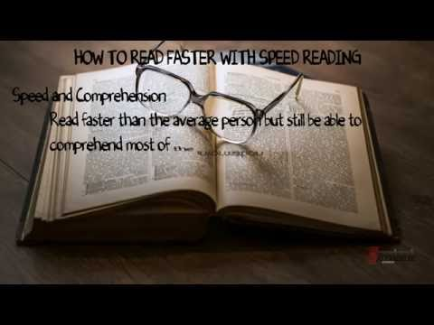 How to Read Faster with Speed Reading