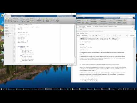 Numerical Methods 7.5 - Golden Search Function