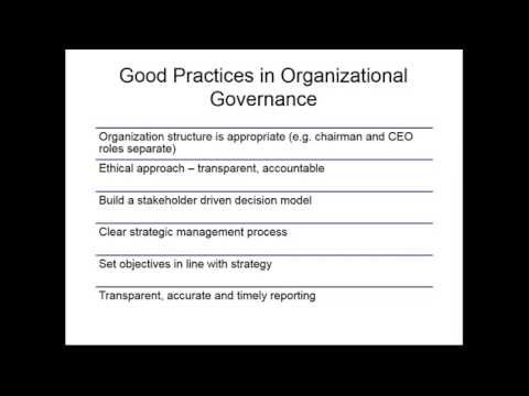 Webinar : Organisational Governance – The Role Of Policies And Procedures