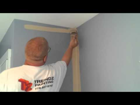 How I cut in paint on a wall to a textured ceiling