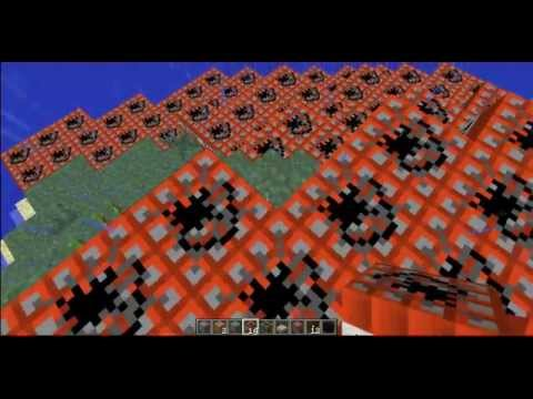 Minecraft - Lets blow up and island with TNT (creative mode)