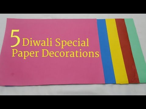 5 Diwali / Christmas Special Paper Decorations | DIY Easy Paper Decorations