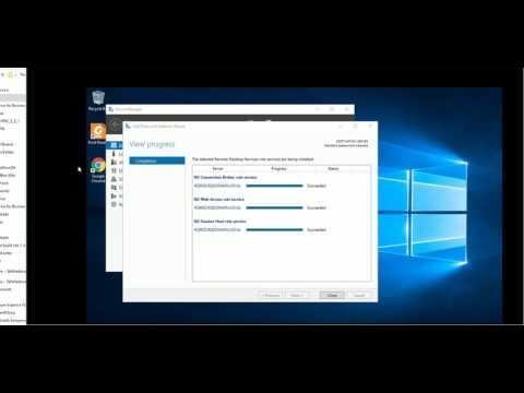 How to install Remote Desktop Service RDS role Windows 2016 Server